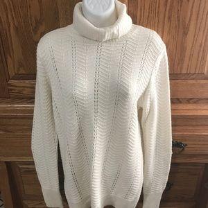 Ann Taylor Loft  cream turtleneck sweater